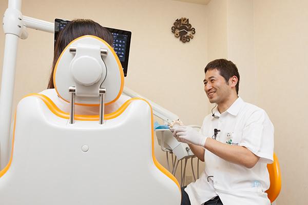 同じ歯科衛生士が患者様のお口の中をしっかりとチェックします